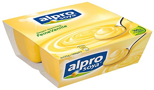 Alpro Soya Dessert Feine Vanille 4x125g