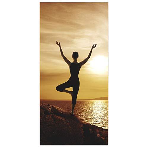 Bilderwelten Raumteiler Yoga 250x120cm inkl. transparenter Halterung