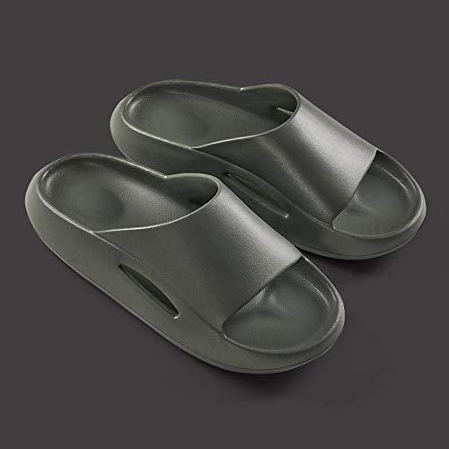 quming Zapatillas Playa Piscina Zapatillas para Ducha,Use Sandalias de Suela Gruesa y Pantuflas de baño Antideslizantes en Verano-Nightmare Green_44-45