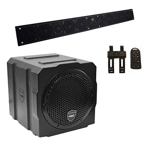 Best Review Of Wet Sounds Package - Black Stealth 10 Ultra HD Sound Bar w/Remote and AS-8 8 350 Wat...