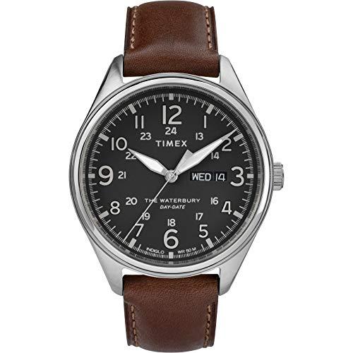 Timex Orologio Analogico Quarzo Uomo con Cinturino in Pelle TW2R89000