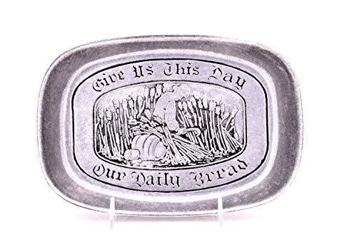 Wilton Bread Tray'Give us This Day Our Daily Bread' 9.25'X 6.5'