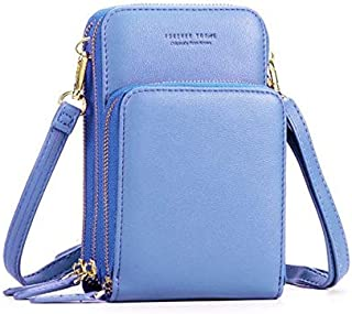 """BTS-UAE Small Leather Crossbody Phone Bags for Women with Card Slots, 6.5"""" Cell Phone Purse Wallet Shoulder Bags for Trave..."""