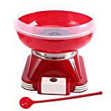 Cotton Candy Machine Red Cotton Candy Maker for Kids Mini Electric Hard Candy Sugar Free Candy Sugar...