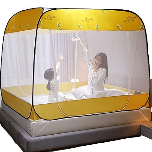 73FACAI Mosquitera Anti Mosquito Bed Carpa 3 Puertas Independiente Plegable Grande Red Inferior Emergente para Viajes al Aire Libre Viaje Bebé Niños Adultos,B