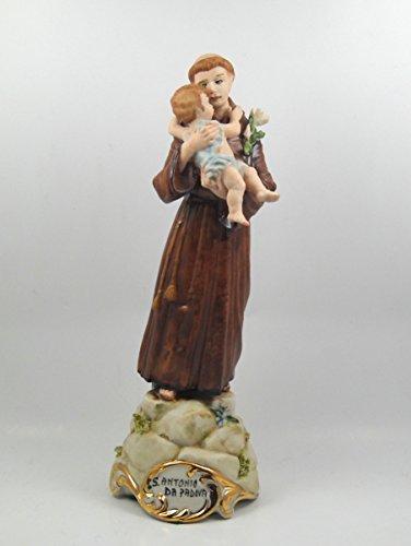 Sparta Capodimonte Figur Porzellan Figur Sant 'Antonio von Padua cm 22x 8cm