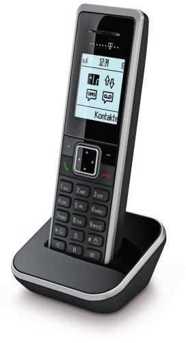 Telekom Sinus 206 pack schnurloses Erweiterungsmobilteil (150 Telefonbucheinträge, monochromes Grafikdisplay) schwarz