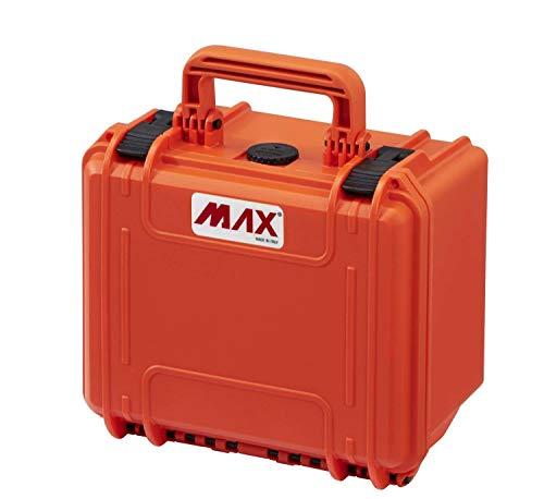 MAX Cases - Valigetta a Tenuta Stagna, Ermetica per Trasportare e Proteggere Apparecchiature e Materiali Sensibili, MAX235H155V Arancione, Dimensioni Interne 235 x 180 x 156 mm