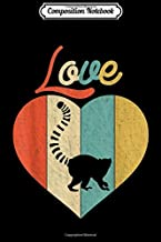 Composition Notebook: Vintage Retro Love Lemur  Journal/Notebook Blank Lined Ruled 6x9 100 Pages