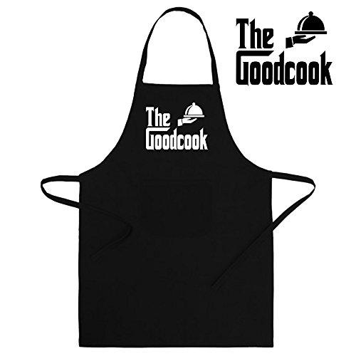 Delantal divertido y original. Parodia El padrino - The godfather (The goodcook). Regalo friki (65x90cm, negro)