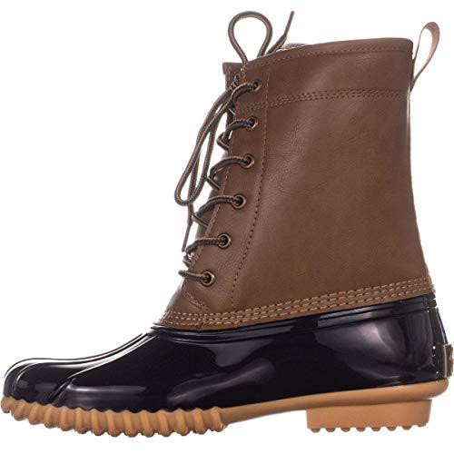 sporto Womens Ariel Faux Leather Ankle Rain Boots Tan 7.5 Medium (B,M)