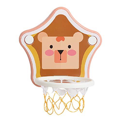 Aro de baloncesto colgante sin perforaciones aro de baloncesto para niños montado en la pared juguete de tiro para bebés dormitorio interior hogar disfrútalo en cualquier momento y en cualquier lugar
