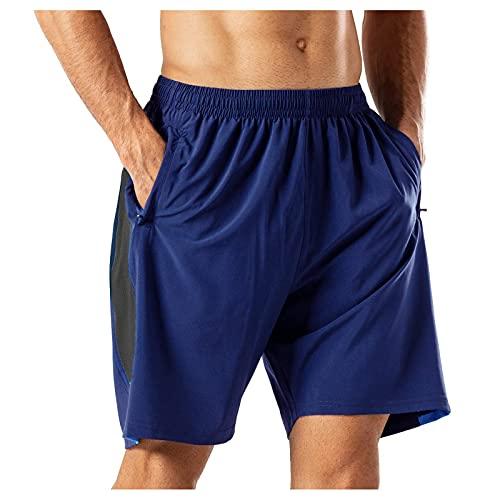 WXZZ Pantalones de chándal para hombre, transpirables, de secado rápido, para entrenamiento, para verano, para correr, para hombre, marine, XXL
