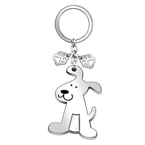 Portachiavi a forma di cane per amanti degli animali, idea regalo per uomini, donne e ragazze