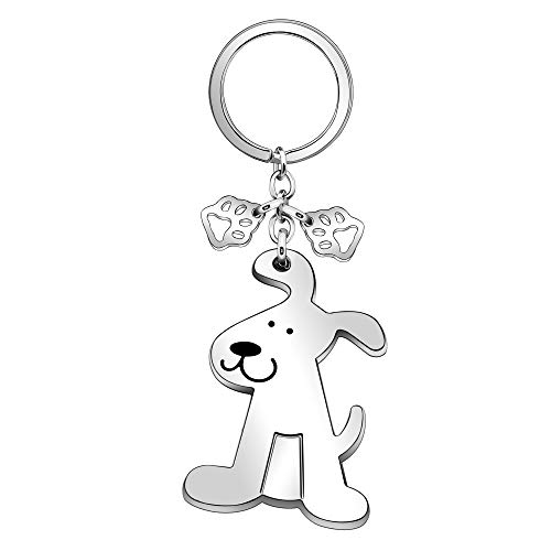 Pet Lover Gift,Puppy Dog Keychain Keyring Key Chain Ring for Women Men Lady Girl Gift.