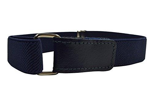Olata Cinturón Elástico para los Niños/Niñas 1-6 Años con Hook y Loop Fijación. Azul Marino