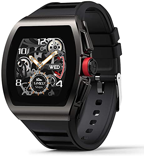 Smart Watch for Android and iOS Phones, Smart Watches for Men, Smartwatch with Heart Rate and Blood Pressure Monitor, Fitness Watch IP68 Waterproof, Step Sleep Tracker Message Reminder, Mens Watches.