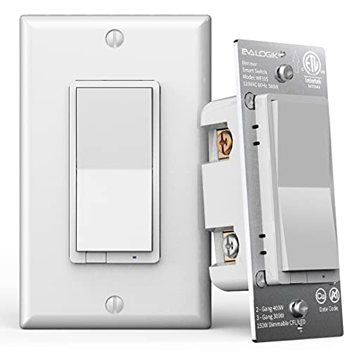 3-Way Smart WiFi Dimmer Light Switch, in-Wall, No Hub Required, Compatible with Alexa and Google Home (WF31S)