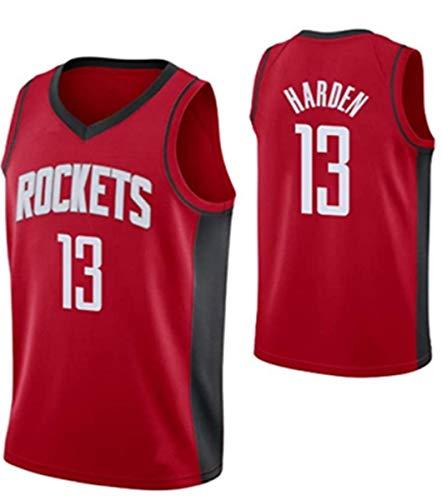 BPZ NBA Jersey James Harden # 13 Houston Rockets Classic Men's Jersey, cómodo/Ligero/Transpirable All-Star Unisex Fan Uniforme,3,L(175~180CM/75~85KG)
