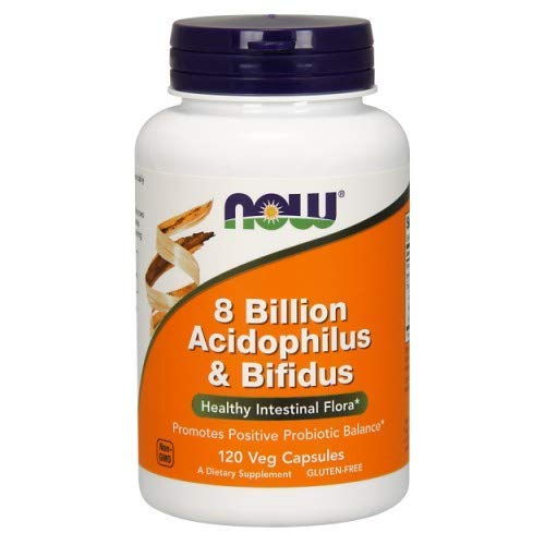 Now Foods: 8 Billion Acidophilus & Bifidus, 120 vcaps (2 pack)