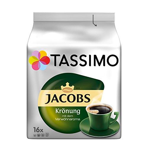 Tassimo Kapseln Jacobs Krönung, 80 Kaffeekapseln, 5er Pack, 5 x 16 Getränke