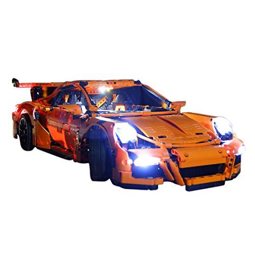 15000P Licht Set für Lego Technic 42056 Porsche 911 GT3 RS, USB Stecker passen zum Lego 42056