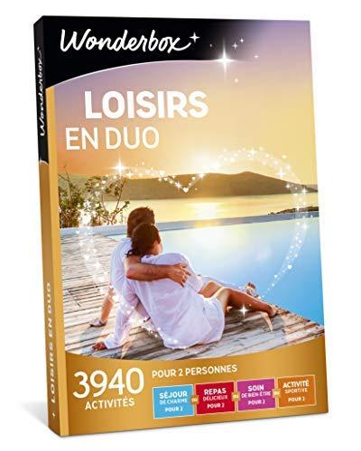 Wonderbox – Coffret cadeau - LOISIRS EN DUO – 3940 activités :séjours de charme, balades en pirogue ou en voilier, spectacles pour 2 personnes,...