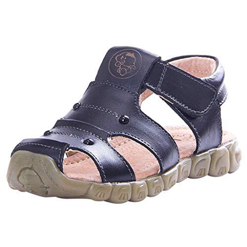 Cuteelf Kinderschuhe Jungen Jumbo Riemchensandalen Kleinkind Kleinkinder Baby Mädchen Jungen Leder Closed Toe Soft Strand Schuhe Sandalen