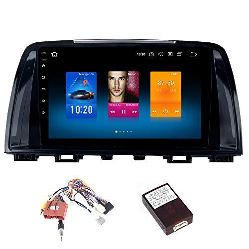Dasaita 9 Zoll Android 9.0 1 Din Autoradio Bluetooth mit 4G RAM 32G ROM für Mazda 6 Atenza 2013 2014 2015 Autoradio Touchscreen GPS Unterstützt WiFi USB Mirrorlink Carplay FM/AM Lenkradsteuerung