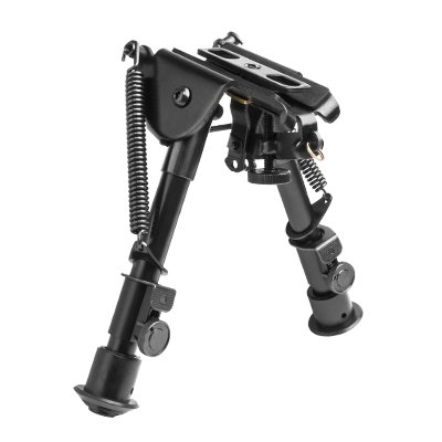 M1SURPLUS Tactical Compact Bench Rest Height Bipod with Adjustable Legs and Integral Sling Swivel Stud Mount + Mounting Adapters Fits HOWA 1500 Weatherby Vanguard Mark V Kel-Tec SU22 SU16 Rifles