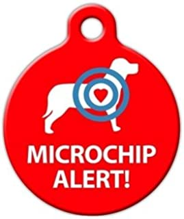 Dog Tag Art Microchip Alert Dog Pet ID Tag for Dogs and Cats