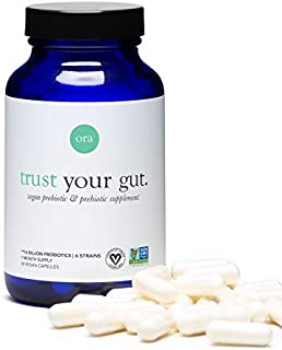 Ora Organic Probiotics with Prebiotics - Vegan Prebiotic and Probiotic for Digestive Health | Dairy-Free, Gluten-Free, for...