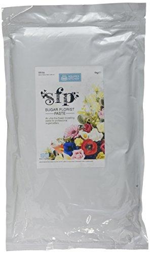 Squires Kitchen SFP Sugar Flower Paste - Blütenpaste weiß Ultra-fein Profiqualität 1 kg Beutel