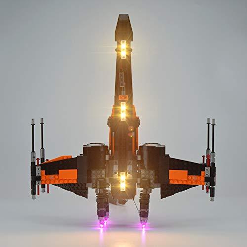 Kit De Iluminación LED para Ladrillos De Iluminación Lego Star Wars Poe's X-Wing Fighter Compatibles con 75102 (No Incluye El Modelo)