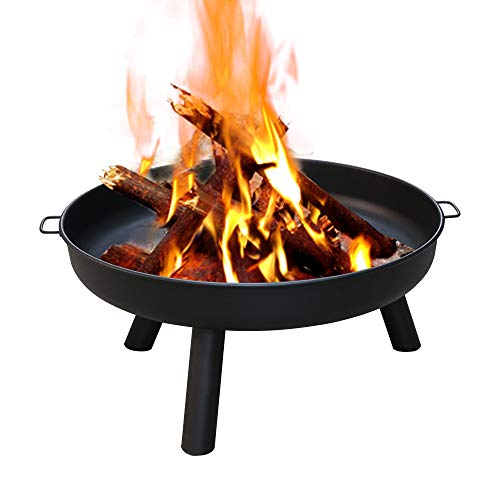 TolleTour Ø 82 cm Feuerschale, Feuerschalen Gusseisen Verzinkt mit Griffen und Abnehmbare Beine, Feuerstelle für den Garten , Feuerkorb und Feuertonne