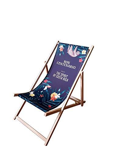 Afri Cola Liegestuhl Stuhl aus Holz Gartenliege Klappstuhl schwarz
