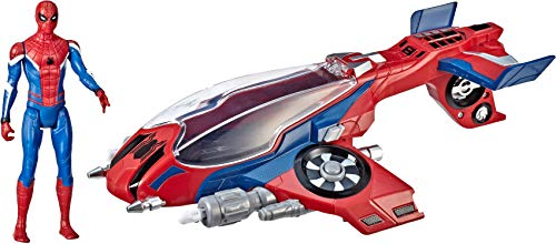 "Spider-Man, Far From Home Spider-Jet with - Vehicle Toy & 6"" -Scale Action Figure"