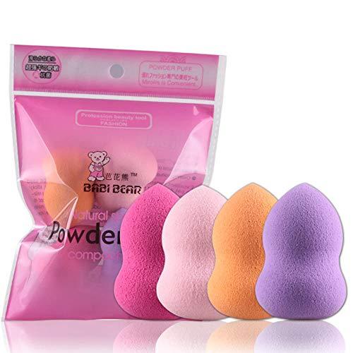 4pcs / set maquillage professionnel éponge éponges multi forme blush fondation maquillage puff