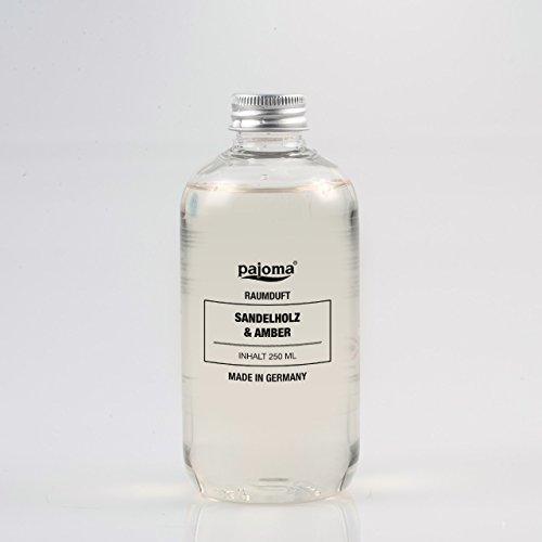 Raumduft Nachfüllflasche 250ml pajoma Duftöl für Diffuser Duft wählbar (Sandelholz und Amber)