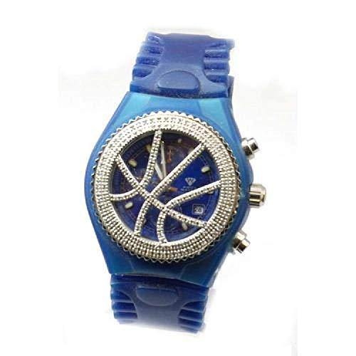 Reloj AQUA MASTER 1,50ct Diamante Cronografo Color Azul