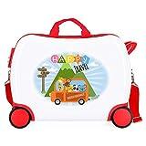 Roll Road Little Me Maleta Infantil Multicolor 50x38x20 cms Rígida ABS Cierre combinación 34L 2,1Kgs 4 Ruedas Equipaje de Mano