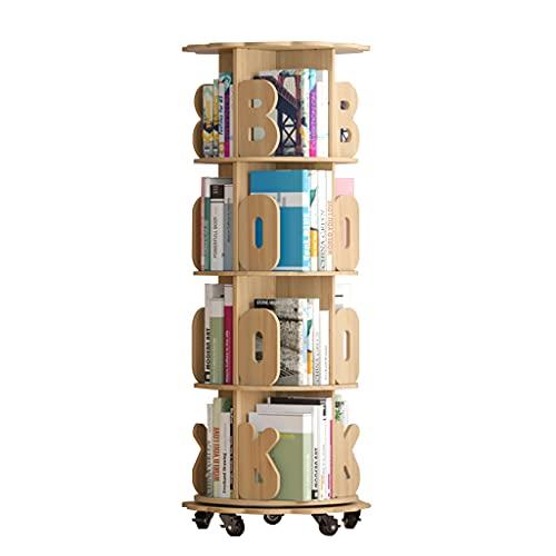 Draaibare boekenplank eenvoudige boekenplank op de vloer voor kinderen opbergrek voor prentenboeken voor kinderen…