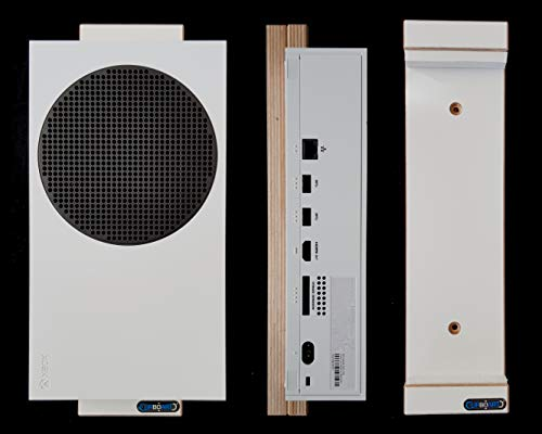 Clipboart Wandhalterung für XBOX Serie S - weiß Halterung Wandmontage Wandhalter Halter Holz