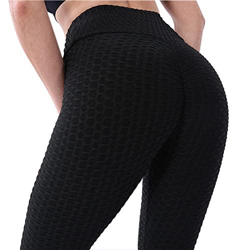 BOTRE Leggins Mujer Push Up Mallas Deporte Leggings Deportivas Yoga Gym Fitness Running Exercise Training Pilates Pantalones Cintura Alta Pants (Negro B, S)