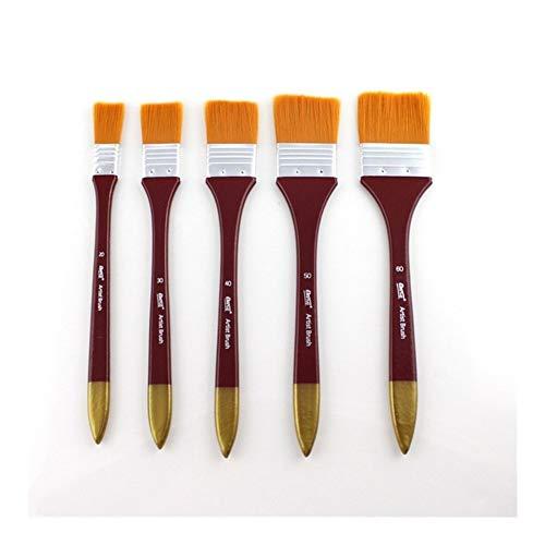 GGLLBL 1 Pieces Pinceaux Acrylique DIY Graffiti Pinceau Set for L'Artiste Huile Scrubber école Dessin Peinture Papeterie (Kleur : 5Pcs Set)