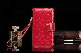 iPhone 8 Plus 7 Plus Case- Designer Monogram Vernis Leather Wallet Case with Card Holder for iPhone 7 Plus iPhone 8 Plus