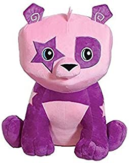 Animal Jam Cute Adorable Bright Purple & Pink Panda Bear Stuffed Animal with Star Patch Design 10 Inches - Super Soft Cuddly Plush Toy for Kids