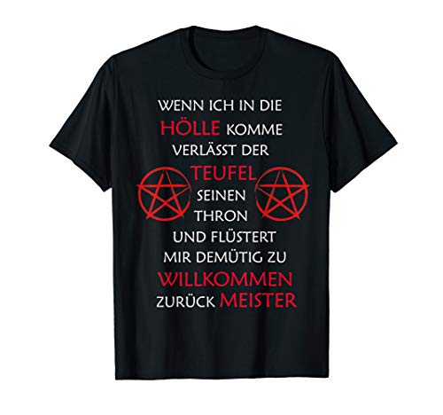 Satan Thron Lustiger Spruch Religion Glaube Shirt