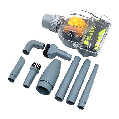 Namvo Accessoires multifonctionnels, mini brosse turbo + 9 têtes de brosse pratiques pour aspirateur 32 mm/35 mm