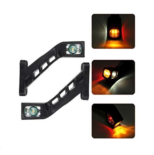 JJ - Coppia di luci di posizione laterali LED per camion rosso bianco arancione 12 V 24 V approvate CE E